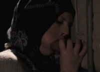 Sesso orale con una troia araba che fa un bocchino sontuoso
